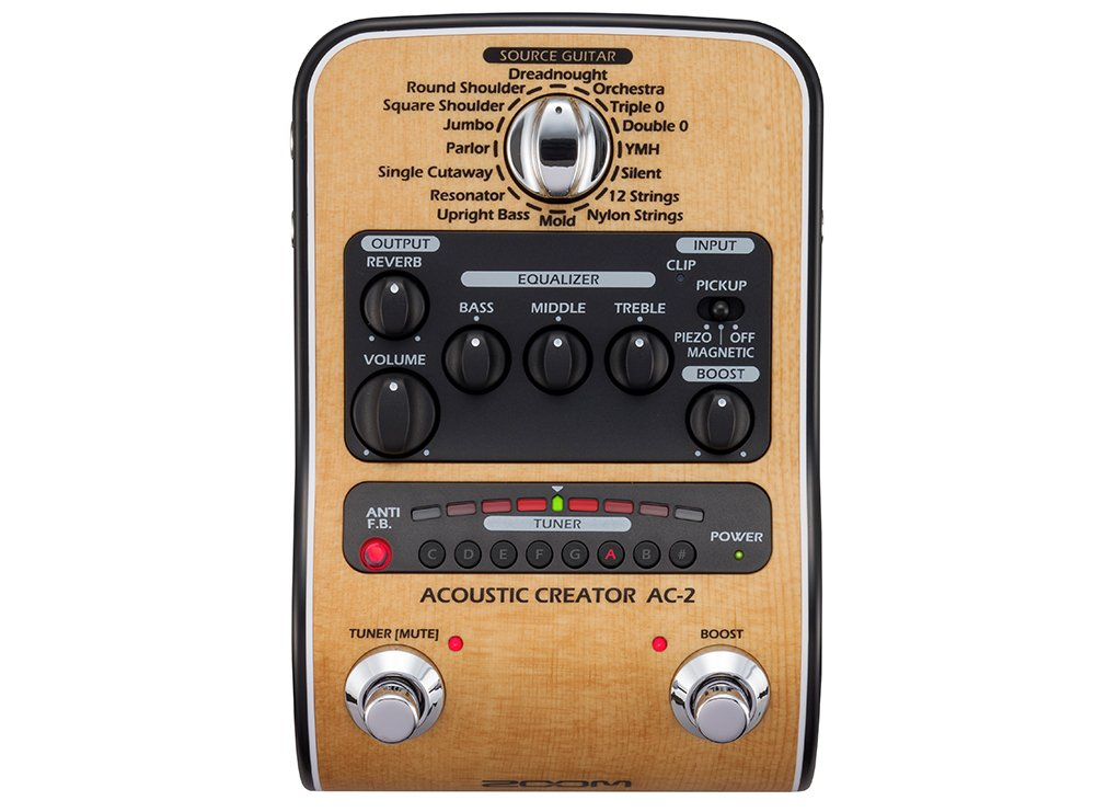 Zoom AC-2 Acoustic Creator Direct Box Effect Pedal