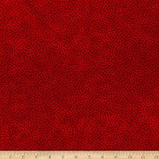 109in Multi Spot Cotton Quilt Back Red