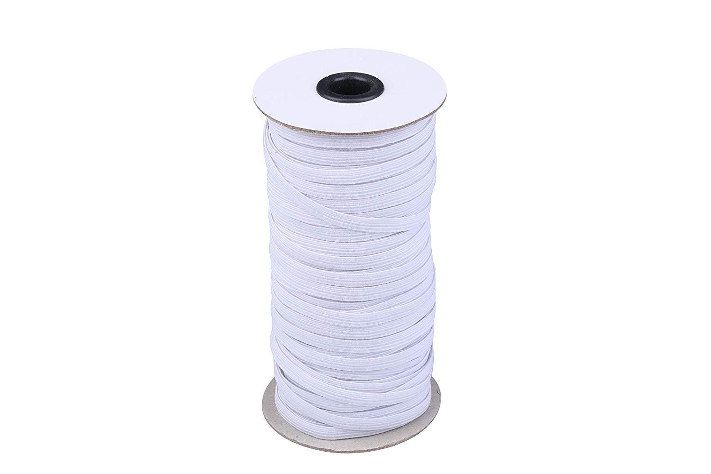 1/4 Flat White elastic