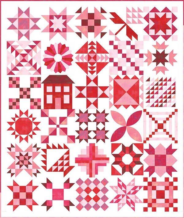 Stitch Pink Kit 2020 Grunge Sampler from Moda - Pre Order