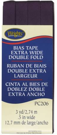 Wright's Bias Tape 1/2 Extra Wide Double Fold Blackberry 206 2302