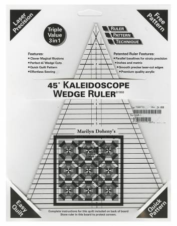 45o Kaleidoscope Wedge Ruler