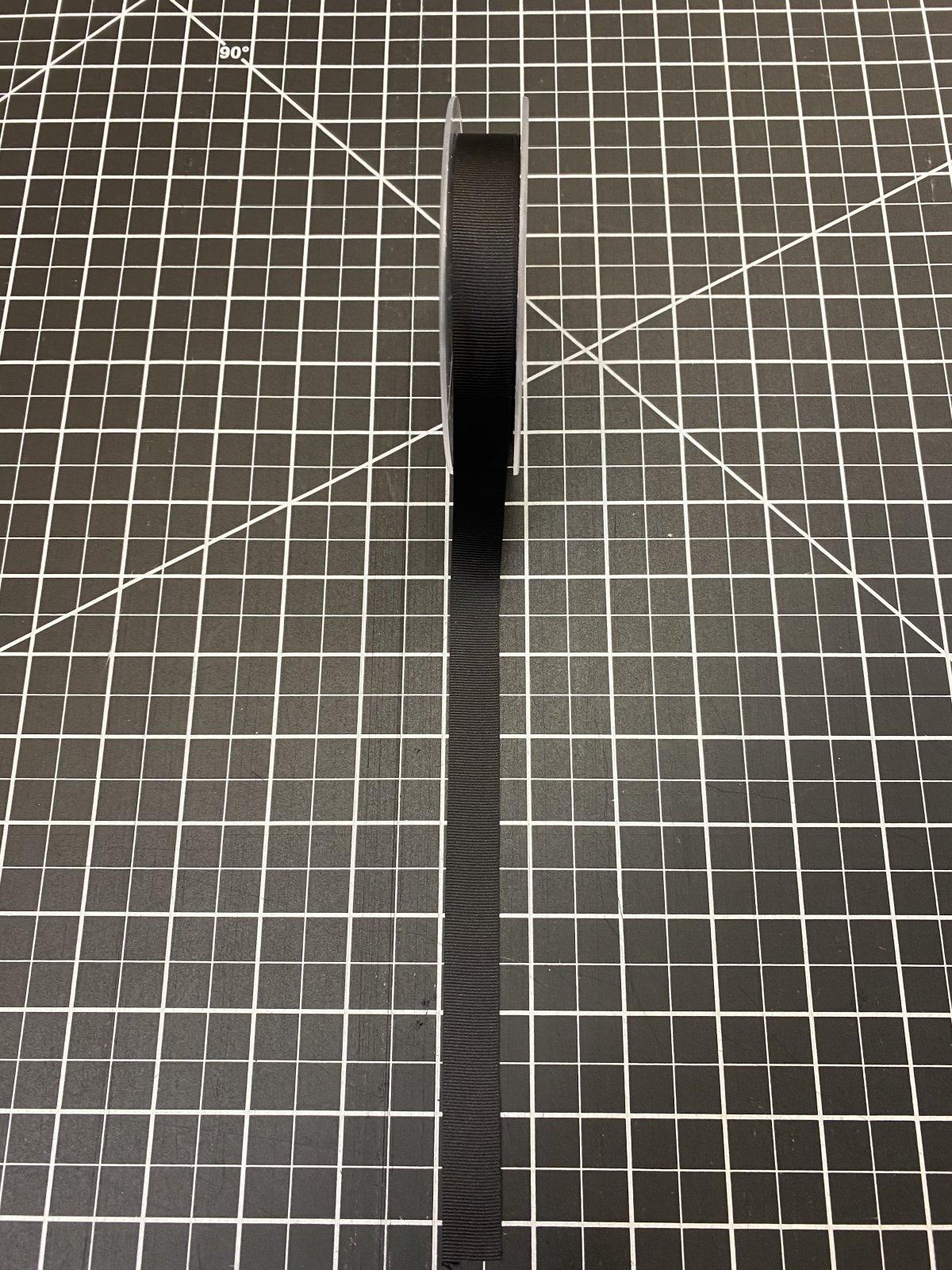 Black Gros Grain Ribbon .6