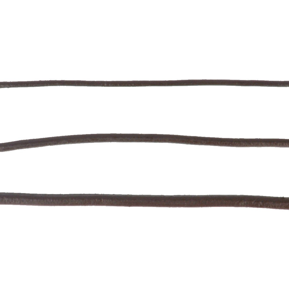 Black Leather Cording 1/4