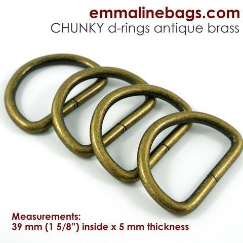 Antique Brass D Rings 1 5/8