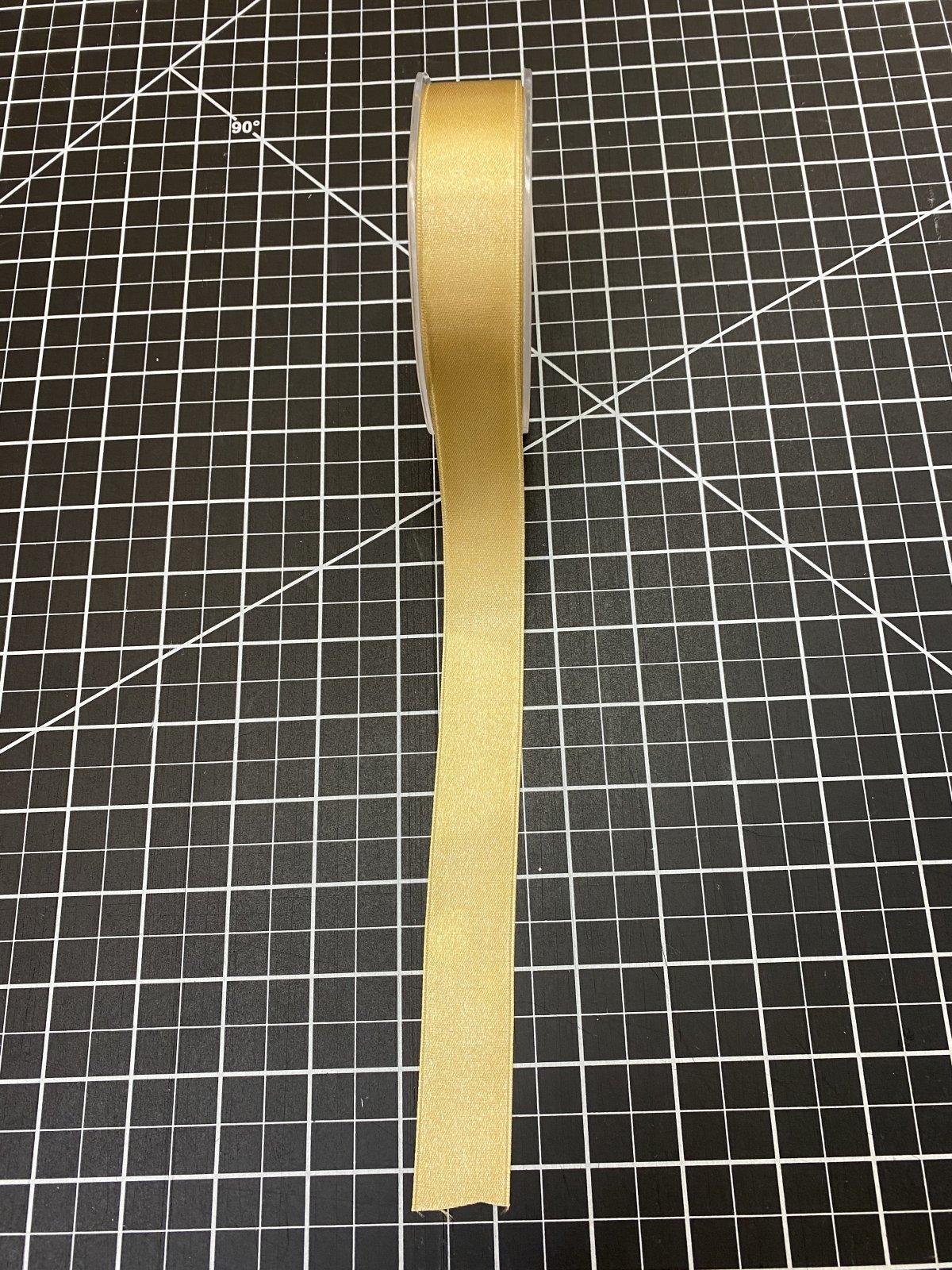 Gold Double Face Satin Ribbon 1