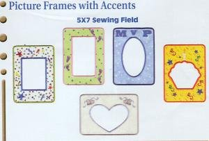 Dakota Collectibles Picture Frames With Accents Embroidery Designs Multi-Formatted CD