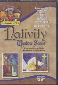 Dakota Collectibles Nativity Window Scene Embroidery Design CD