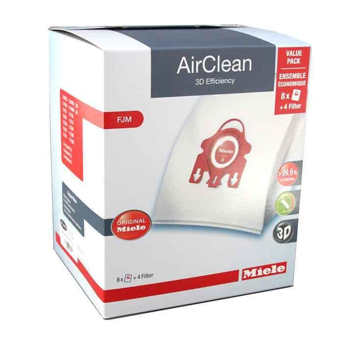 Miele 3D AIrClean Vacuum Bags Type FJM Canisters