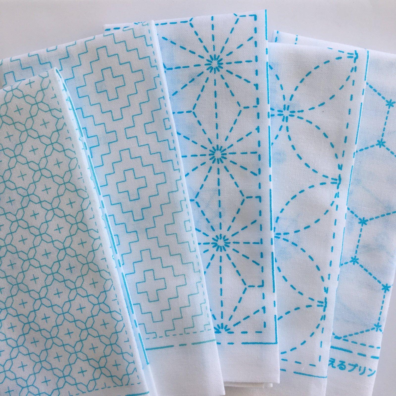Sashiko Cloth White Patterns