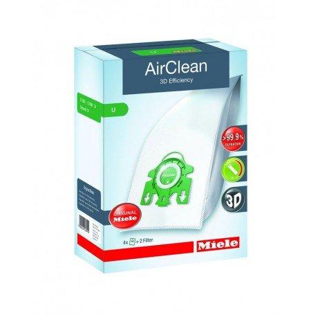 Miele 3D AirClean Vacuum Bags Type U Uprights