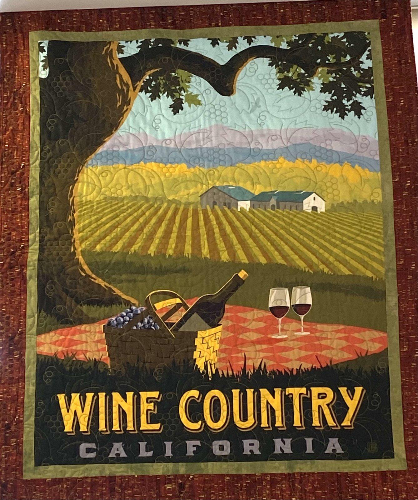 Wine Country Beginner Panel Quilt Kit