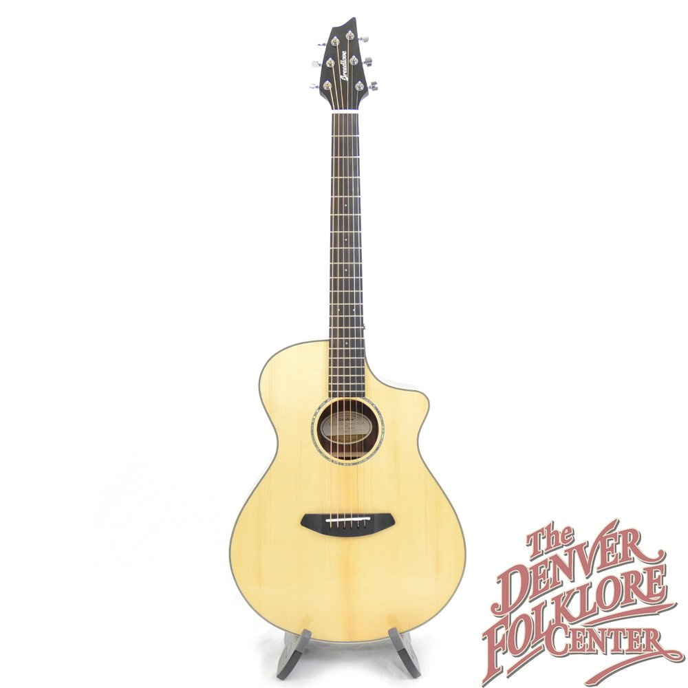 Breedlove Pursuit Exotic Concert CE Engleman-Striped Ebony
