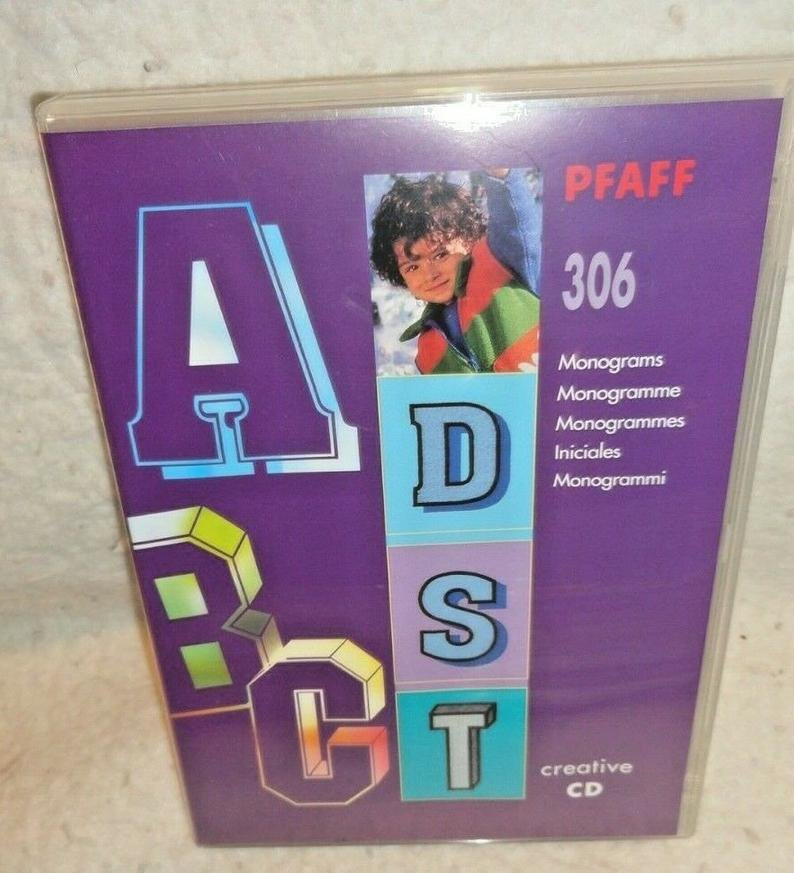 Pfaff Creative CD 306 Monograms - for use with Pfaff 2140/2170 in .pcs format