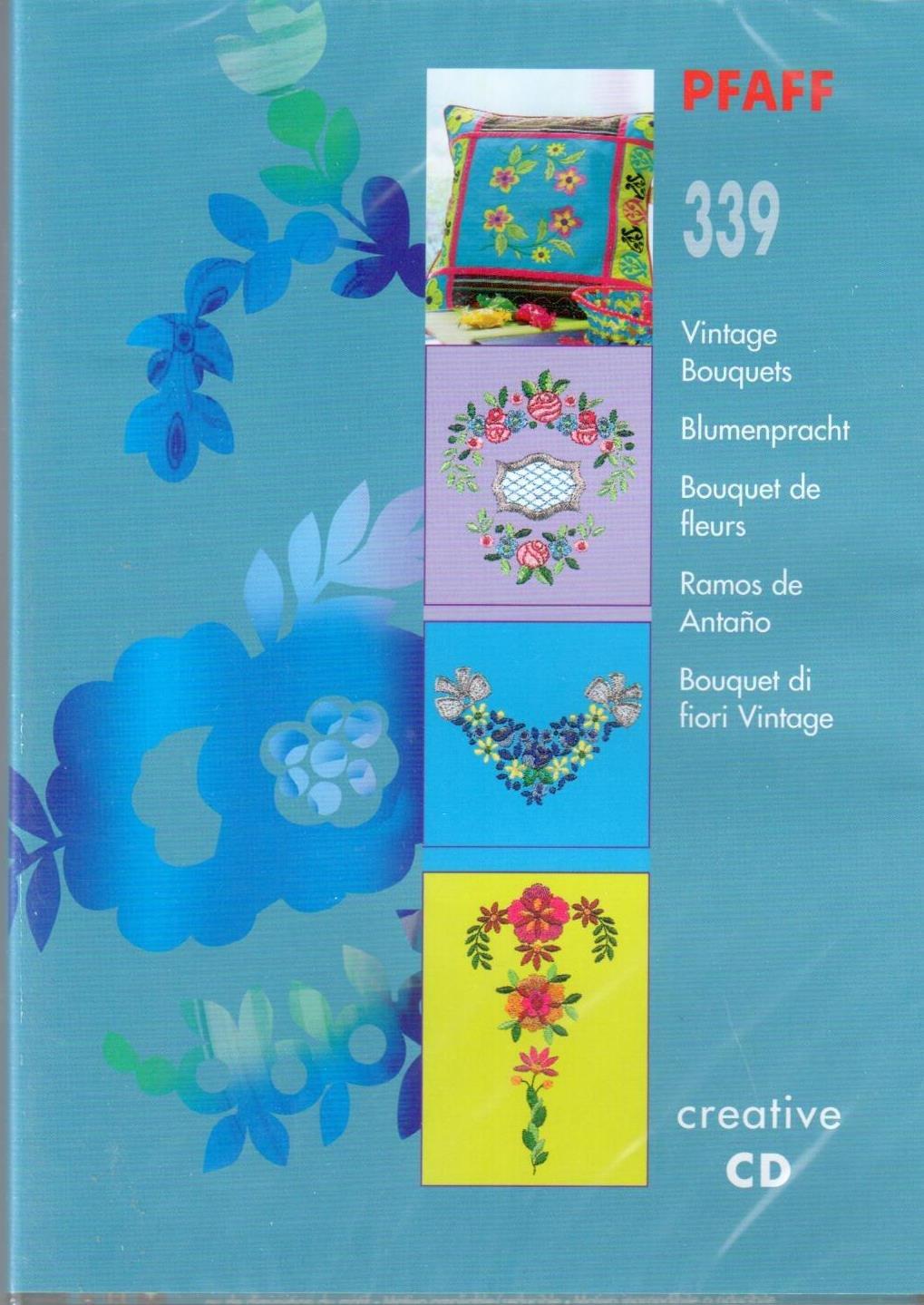 Pfaff Creative CD 339 Vintage Bouquets