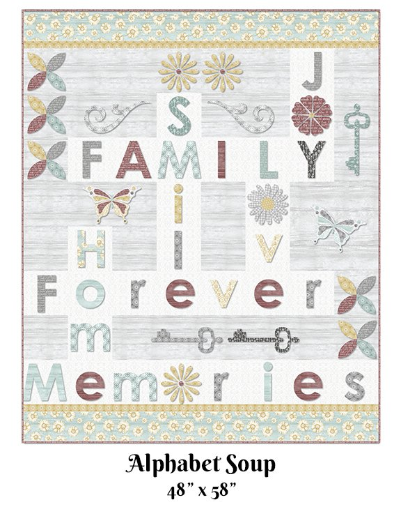Alphabet Soup Quilt Kit