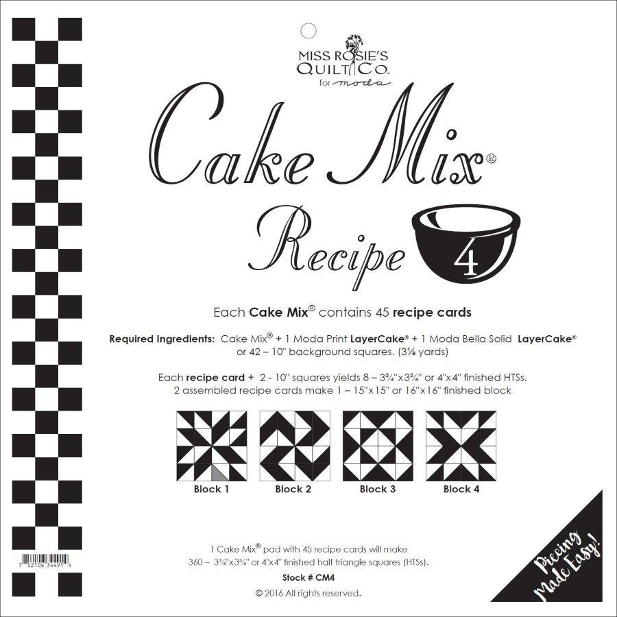 Cake Mix Recipe 4 44ct