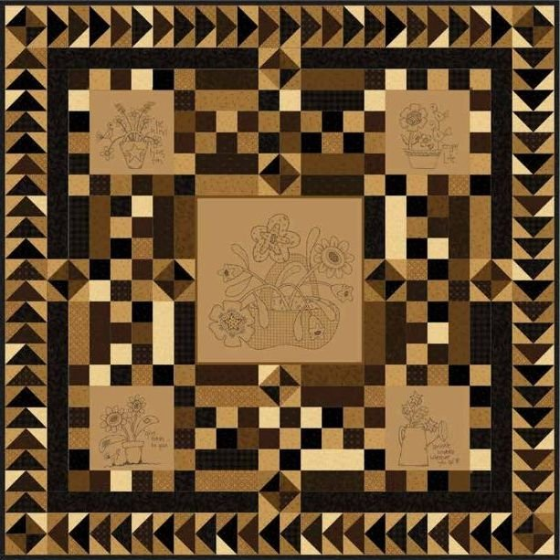 Down to Earth Panel Quilt