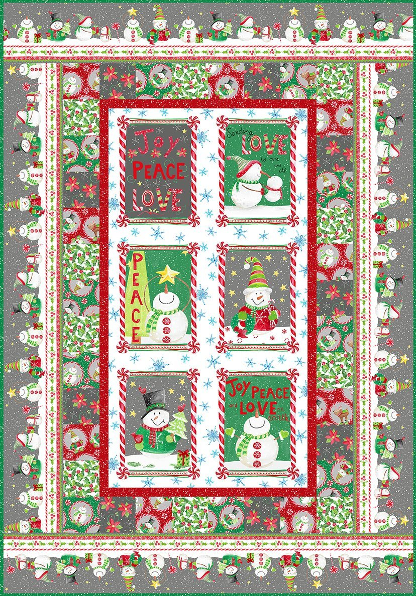 Joy Peace and Love Quilt kit