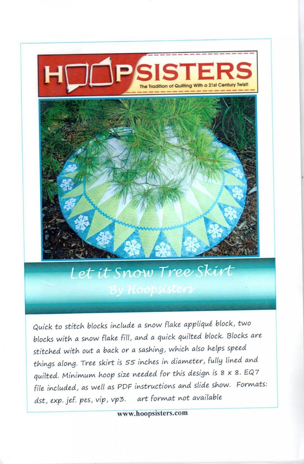 Let It Snow Tree Skirt by Hoopsisters