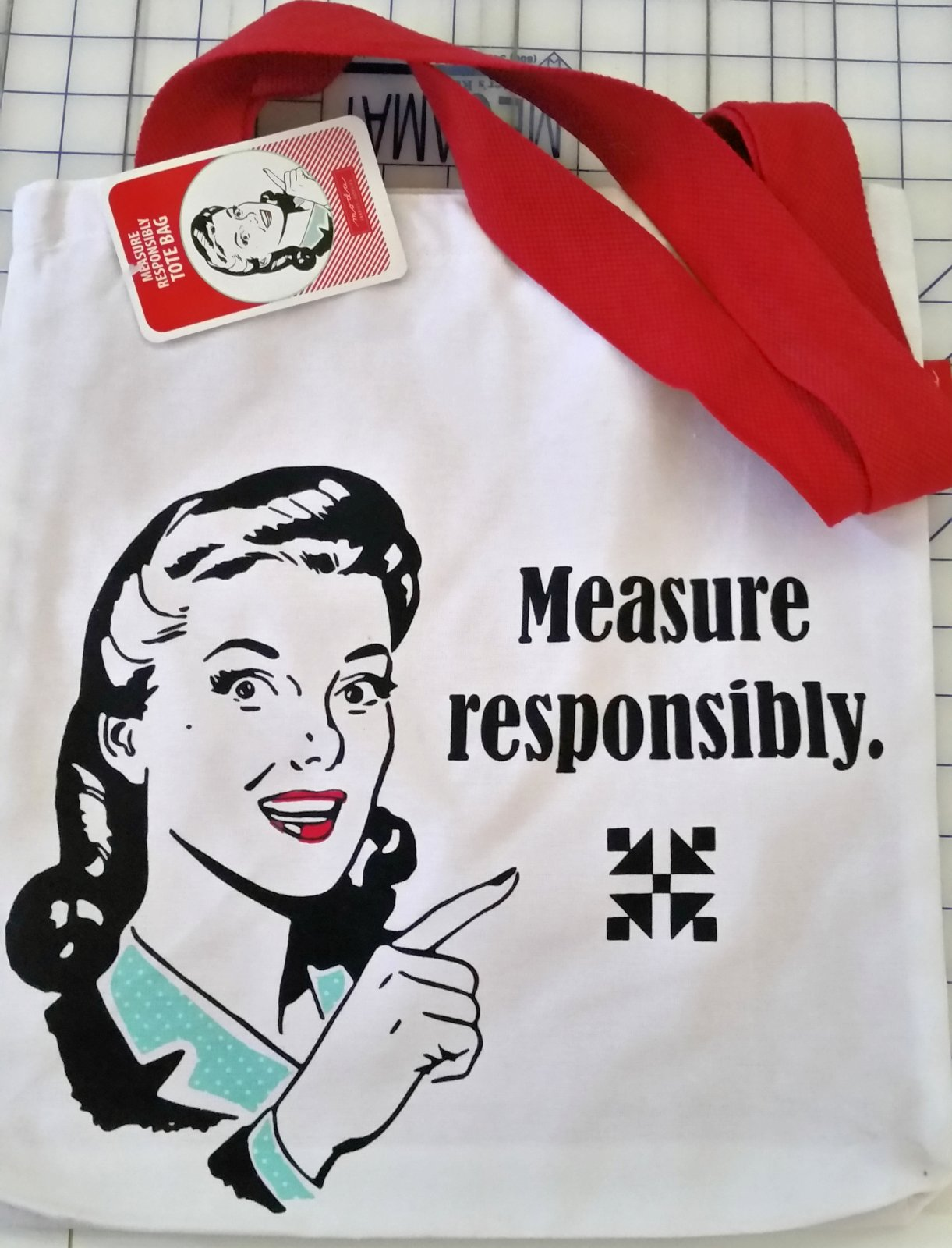Snarky Women Tote Measure Responsibly