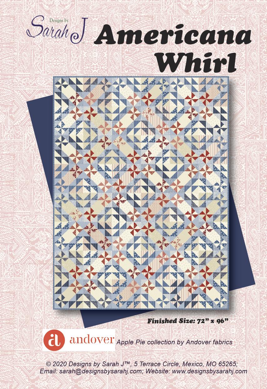 Apple Pie Americana Whirl Quilt Kit 72 x 96