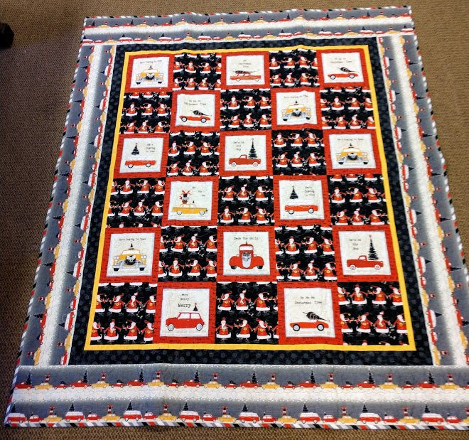 Around Town Christmas Quilt 64 x 74