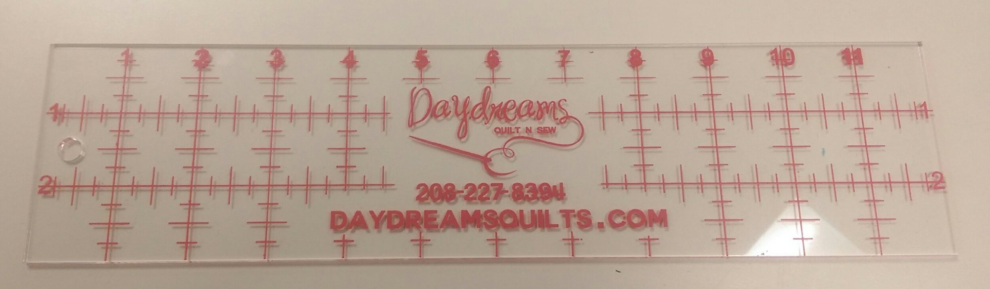 Daydreams Pink Ruler 3 x 12