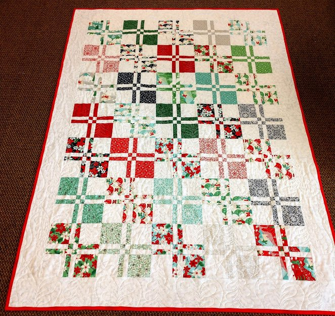 Aurora Disappearing 4 Patch Quilt 48 x 64