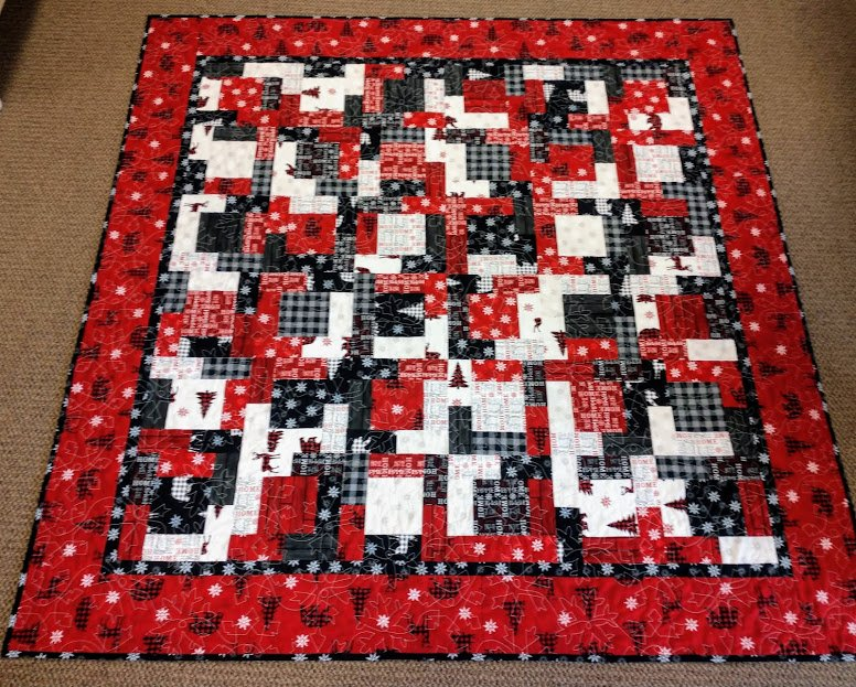 Holiday Lodge 12 FQ Quilt 64 x64
