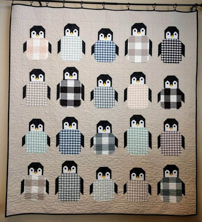 Penguin Party Quilt 60 x 66