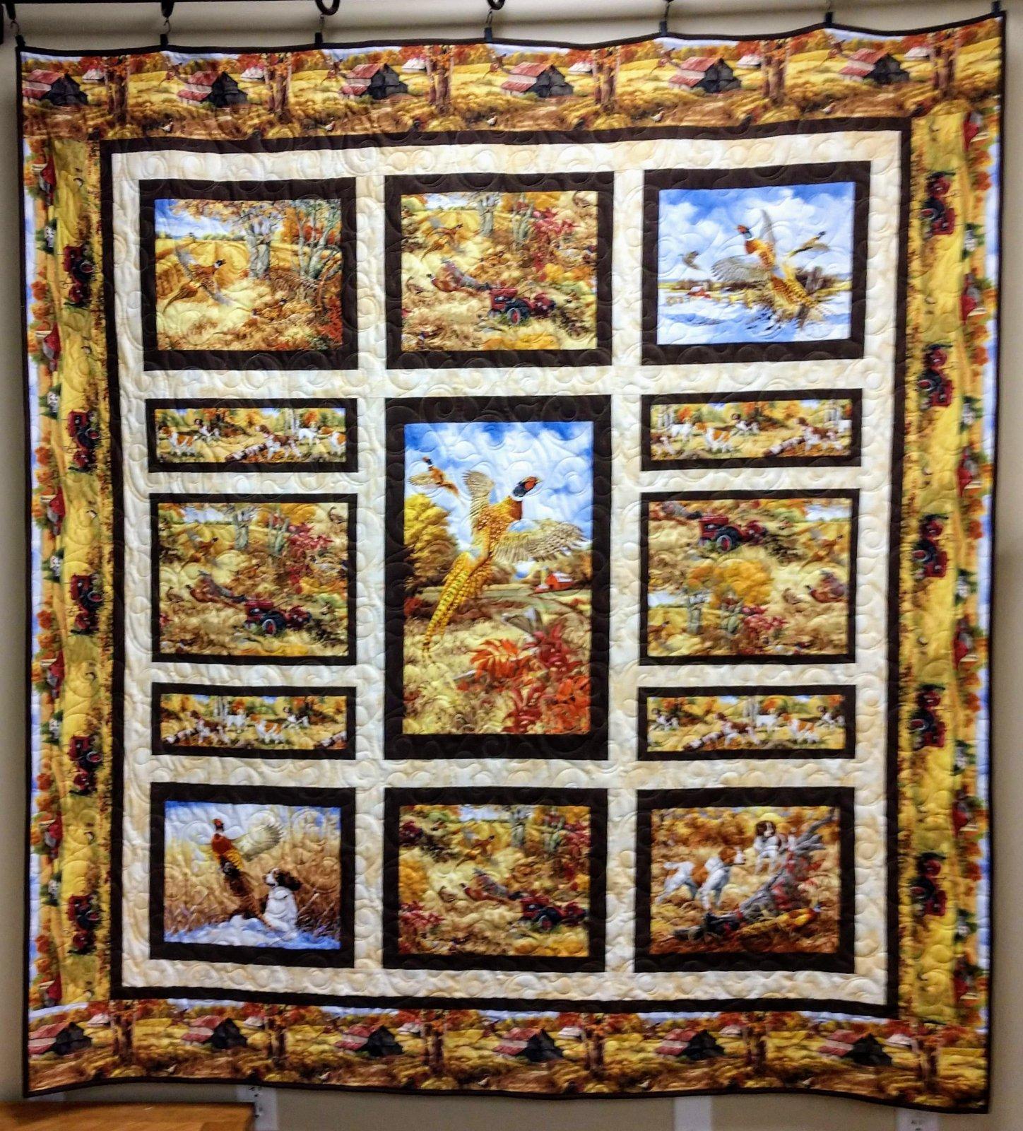 Pheasant Run Quilt 70x74