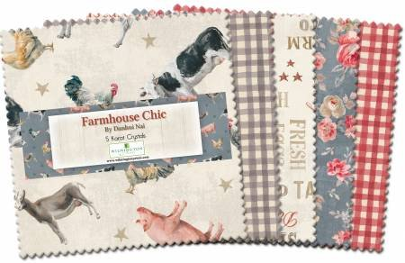 Farmhouse Chic  5 Squares (42 Pieces)