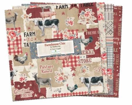 Farmhouse Chic 10 Squares (42 pieces)