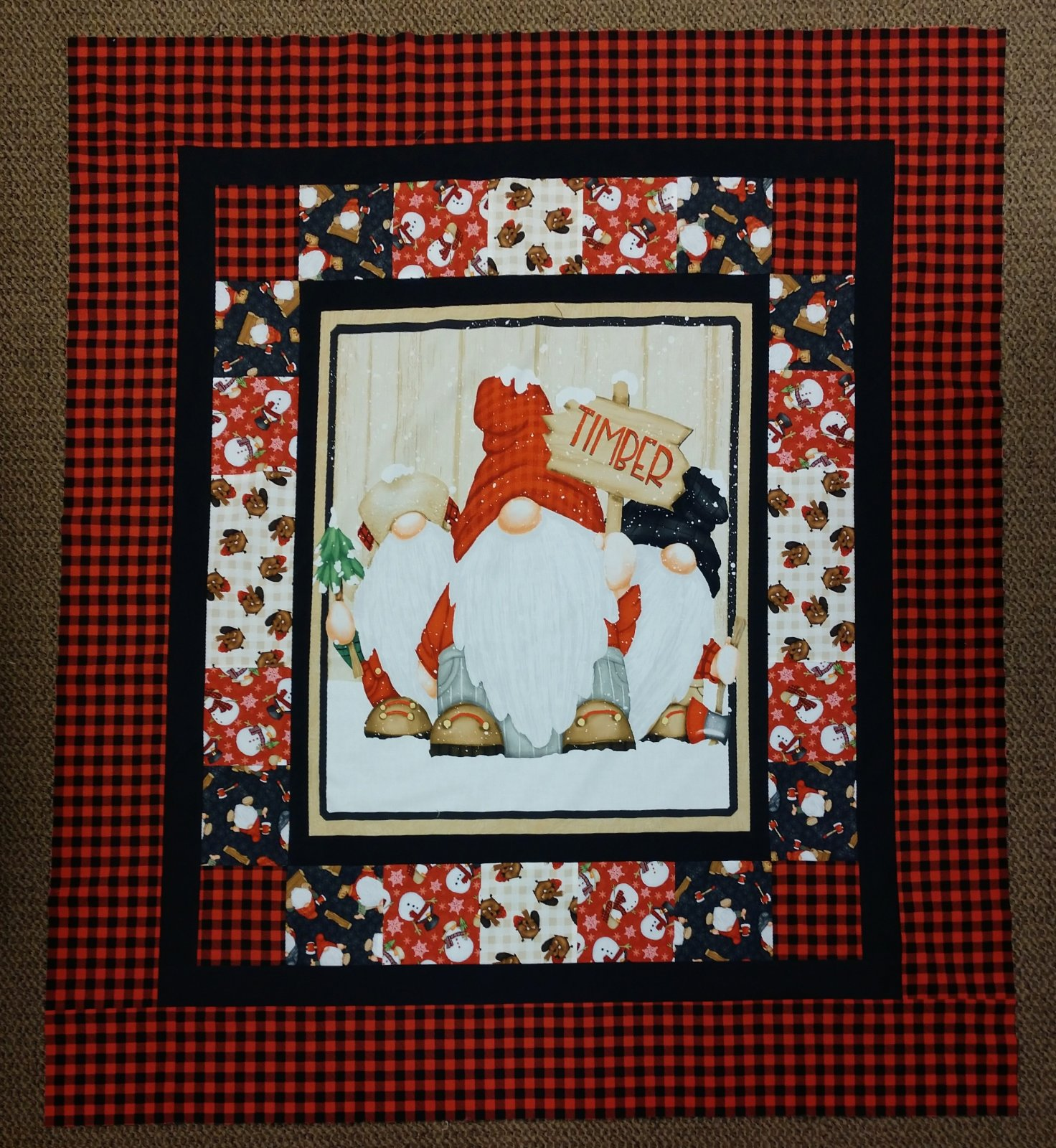 Timber Gnomes Quilt (48x54)