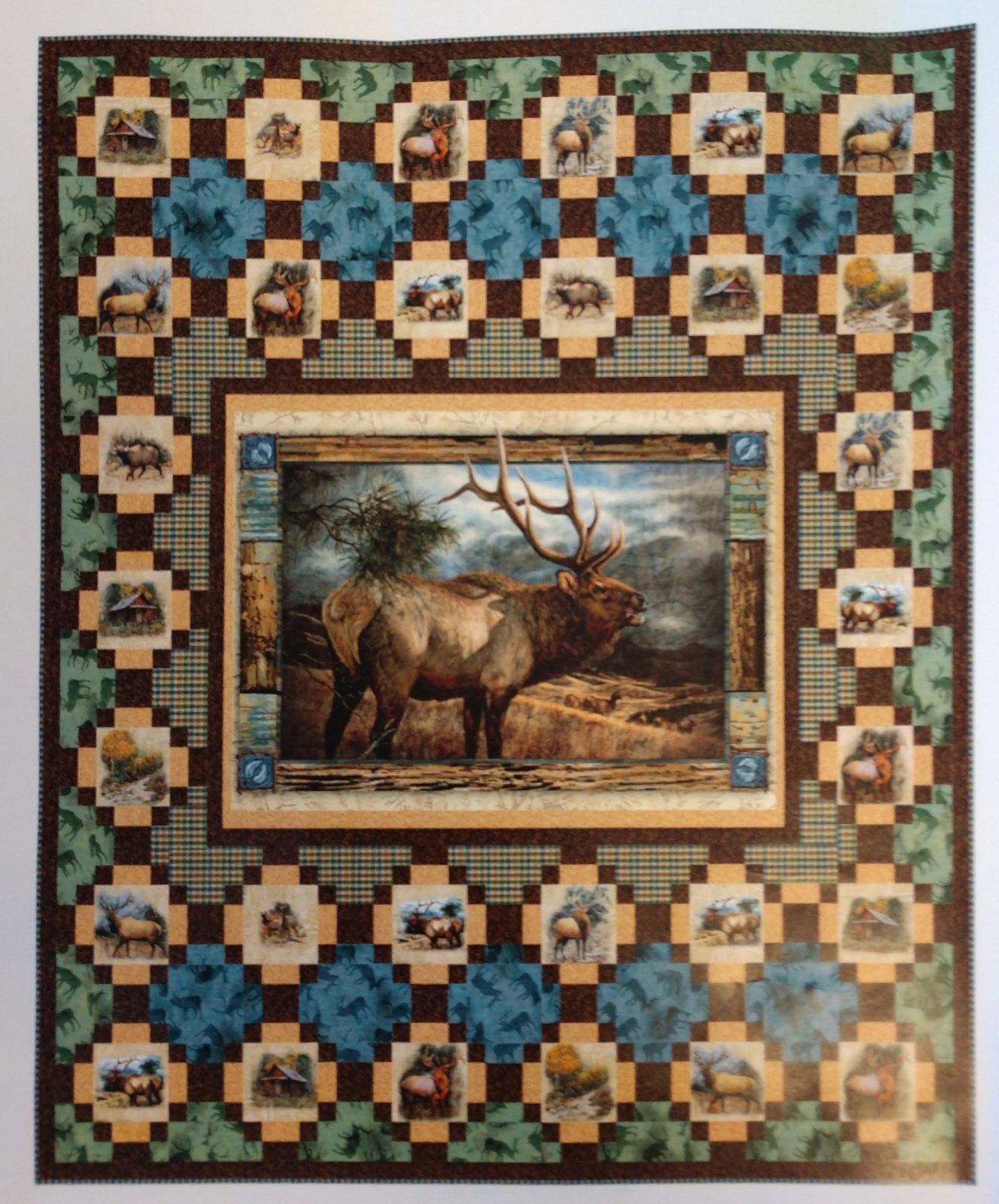 Wild Elk Quilt Kit (56 x 65)