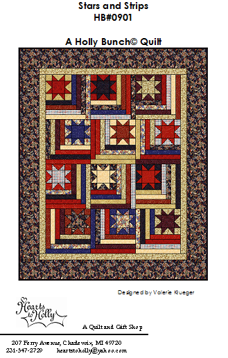 HBP0901  Holly Bunch Pattern - Stars and Strips