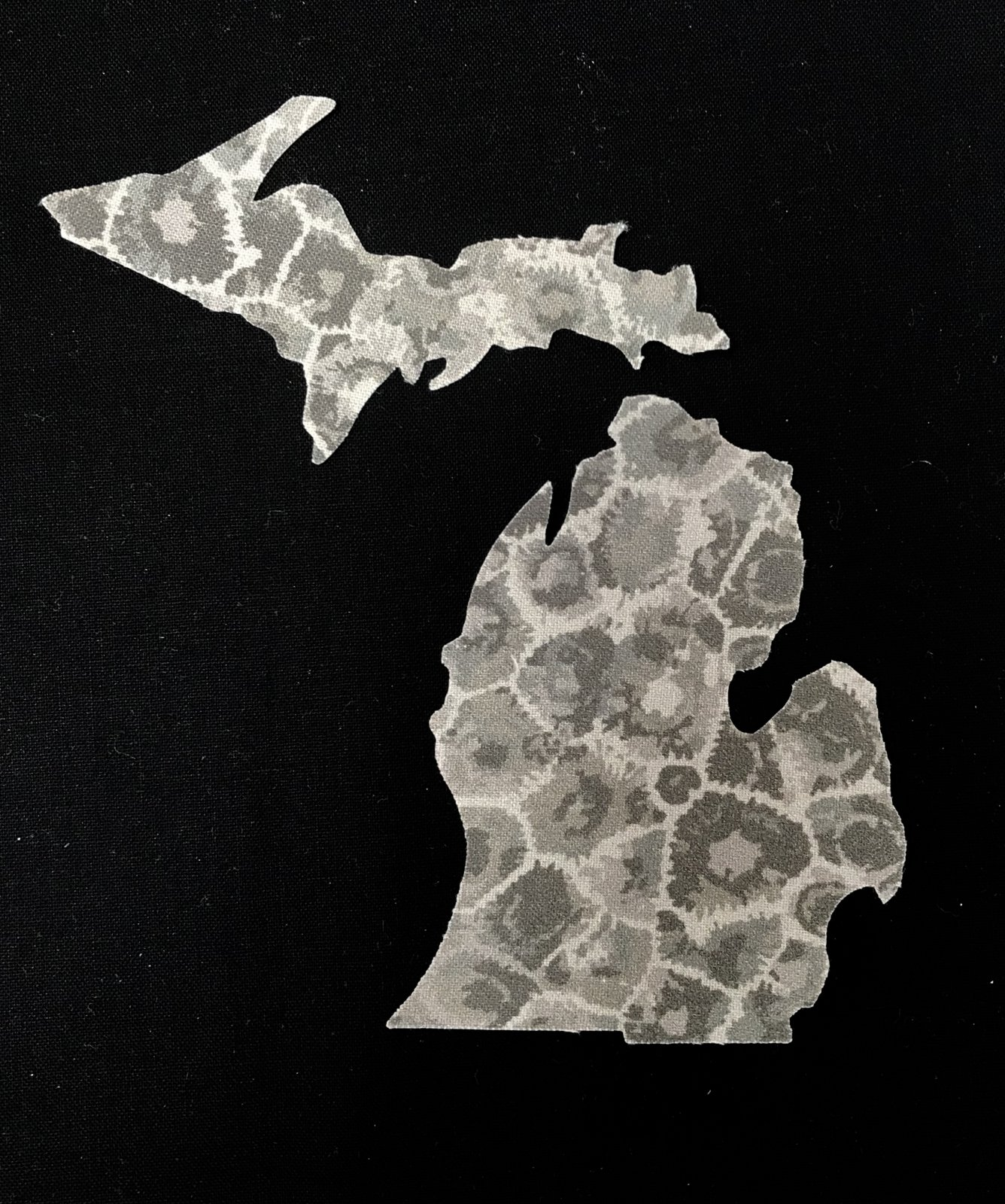 Petoskey Stone Fabric  - Small State of Michigan Cutout
