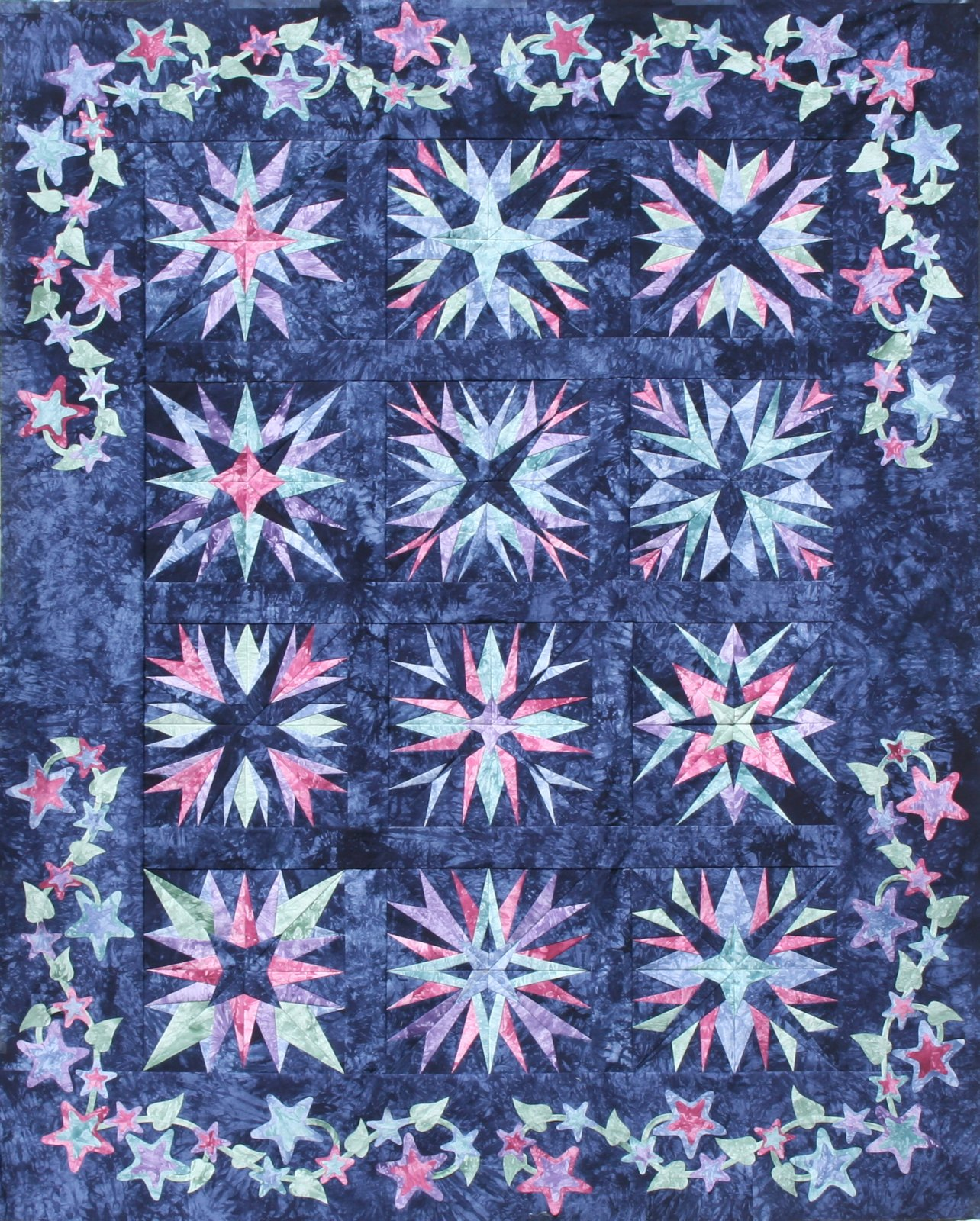 Midnight Starrs Block of the Month Pattern Set