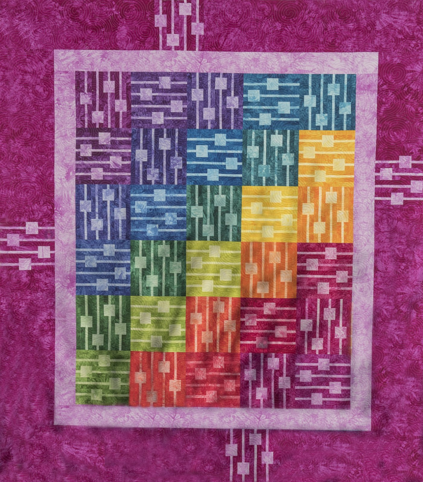 Patternworkz Echo Quilt Kit ~ Pink