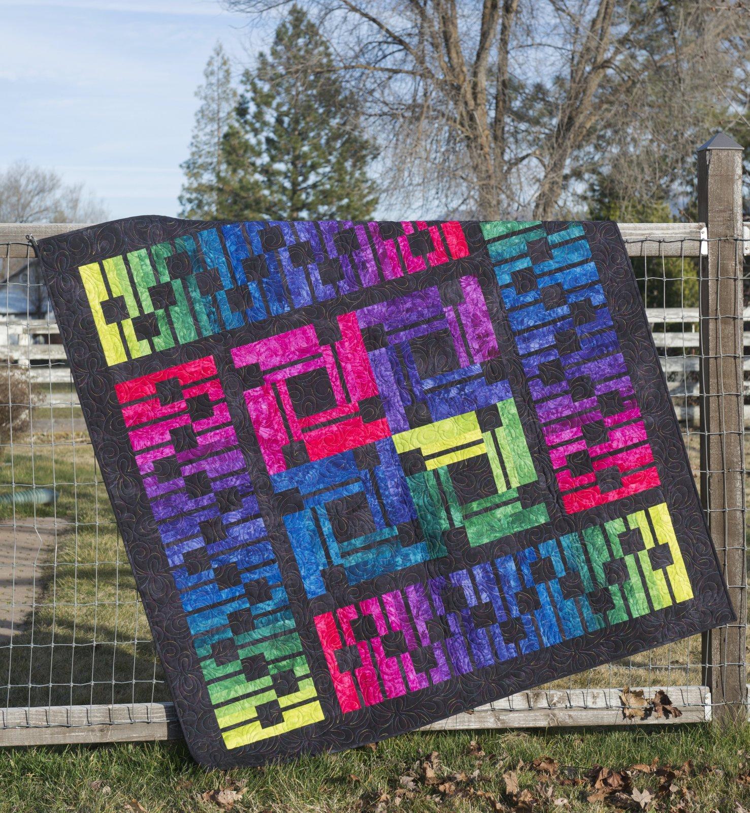 Soundwavez Quilt Kit ~ Dark Jewel