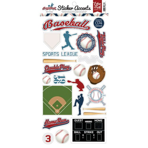 BASEBALL STICKER ACCENTS
