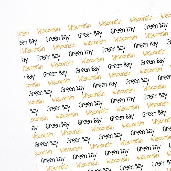 GREEN BAY, WI SPIRIT PAPER | WHITE