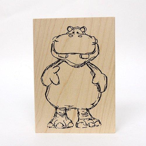 LG HIPPO CRITTER STAMP
