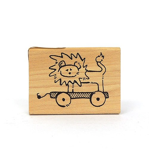 LION PULL TOY STAMP