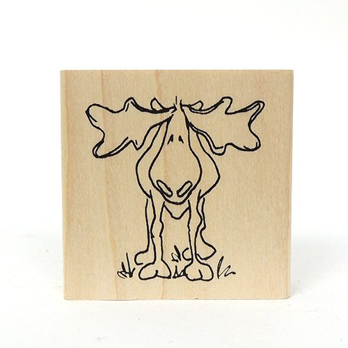 H126 SMALL MOOSE STAMP