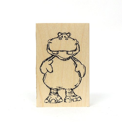 SMALL HIPPO CRITTER STAMP