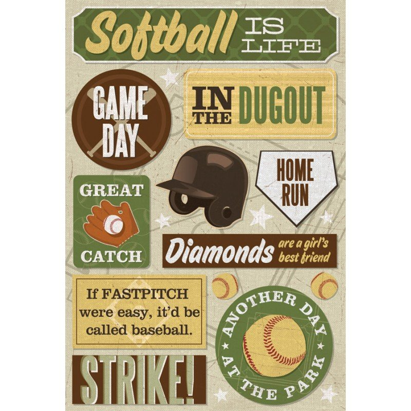 SOFTBALL IS LIFE STICKERS