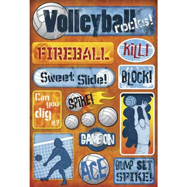 VOLLEYBALL ROCKS STICKERS