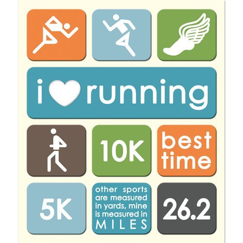 RUNNING TRACK STICKER MEDLEY